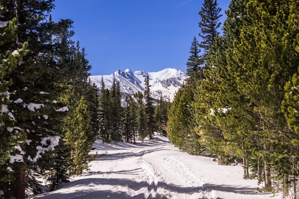 Snowshoeing to Brainard Lake and Long Lake