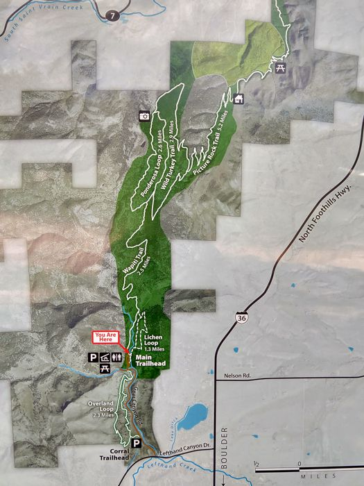 Heil Valley Ranch map