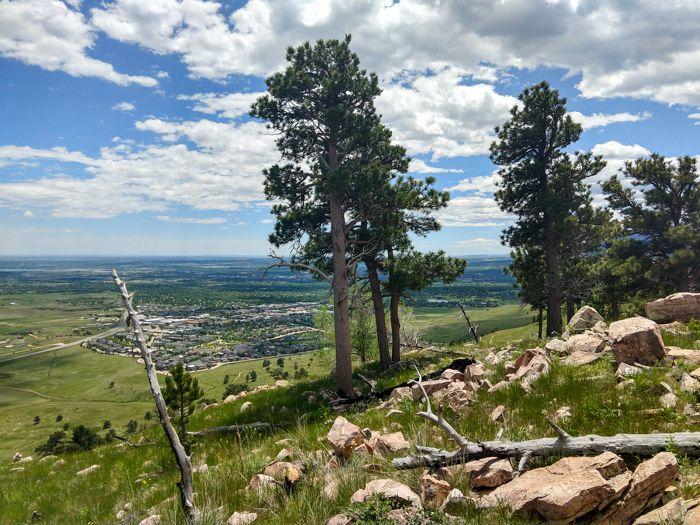 Hogback Ridge summit Boulder Colorado