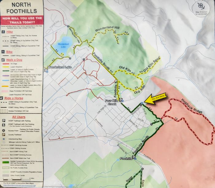 North Foothills map