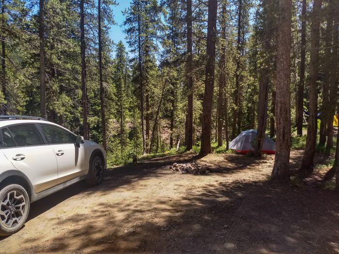 Gunnison National Forest public campground