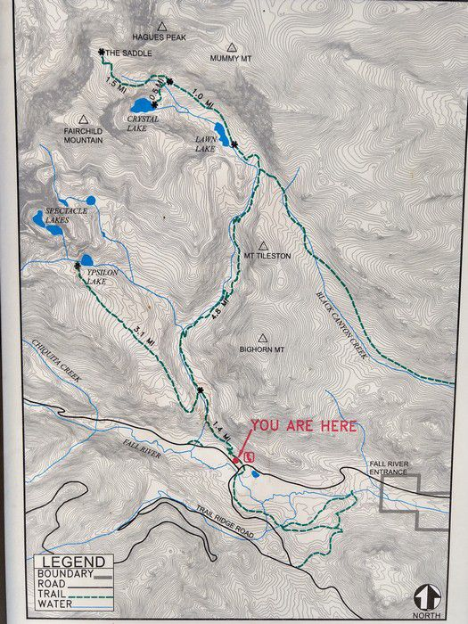 Lawn Lake Trailhead map