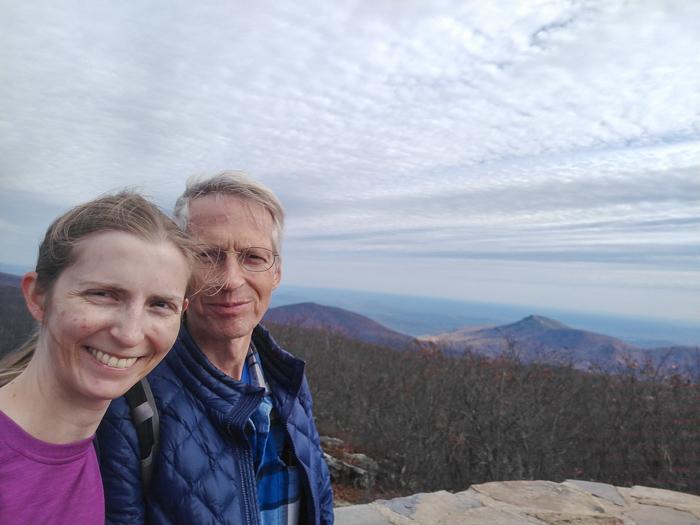 Shenandoah Hawksbill Mountain summit