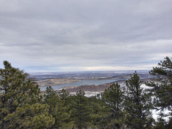 Arthur's Rock Trail Horsetooth Reservoir viewpoint