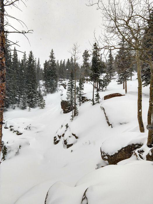 Alberta Falls RMNP snow
