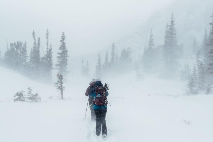 Winter conditions Loch Lake RMNP