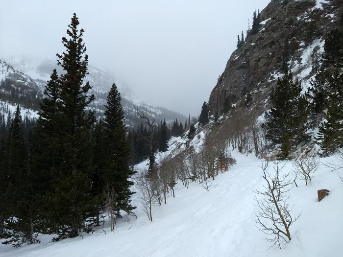 Snowshoeing to Mills Lake