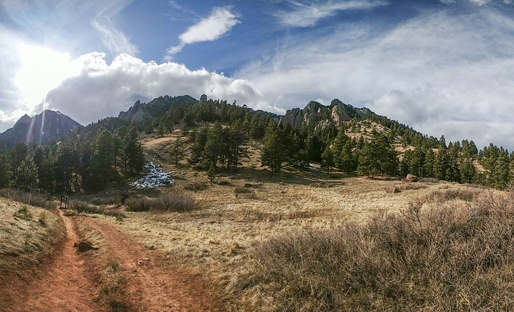 The Mesa Trail passing by NCAR