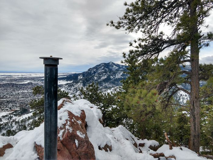 Boulder – Mt. Sanitas via Sunshine Canyon & Lion's Lair Trails in Winter