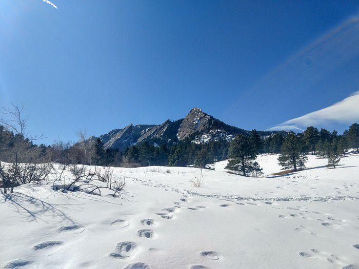 Chautauqua Park Flatirons winter