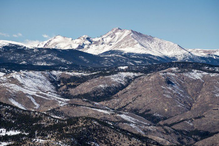 Green Mountain summit view Chief's Head Mountain Pagoda Mountain Longs Peak Mt. Meeker