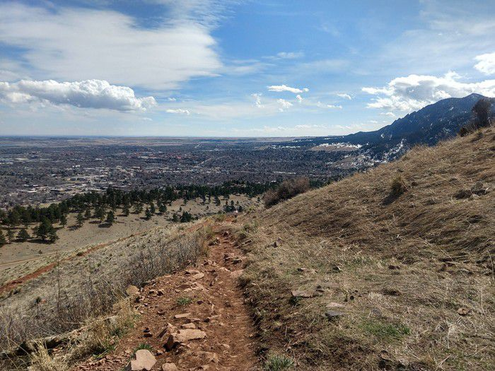 Mt. Sanitas East Ridge Trail views