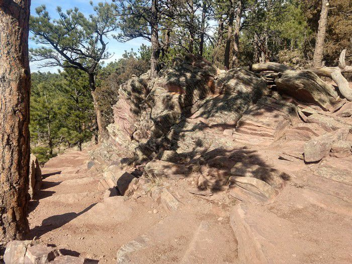 Mt. Sanitas Lion's Lair Trail viewpoint