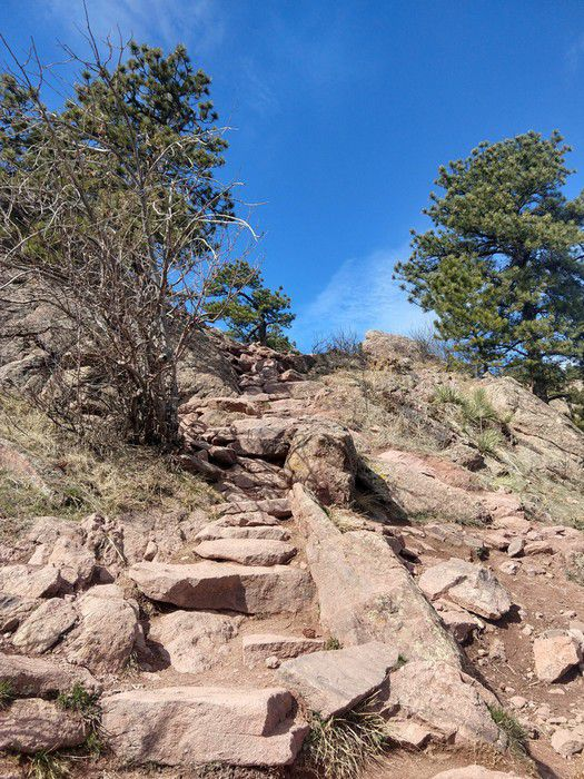Mt. Sanitas Trail rock stairs