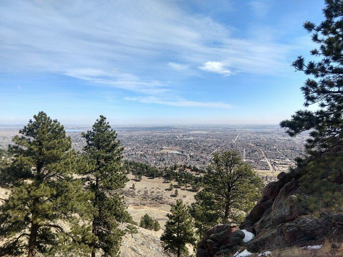 Mt. Sanitas Trail Boulder views