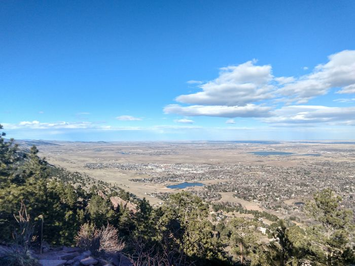 Mt. Sanitas summit view