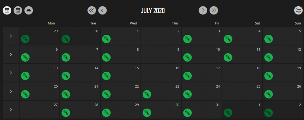 July walking Movescount log