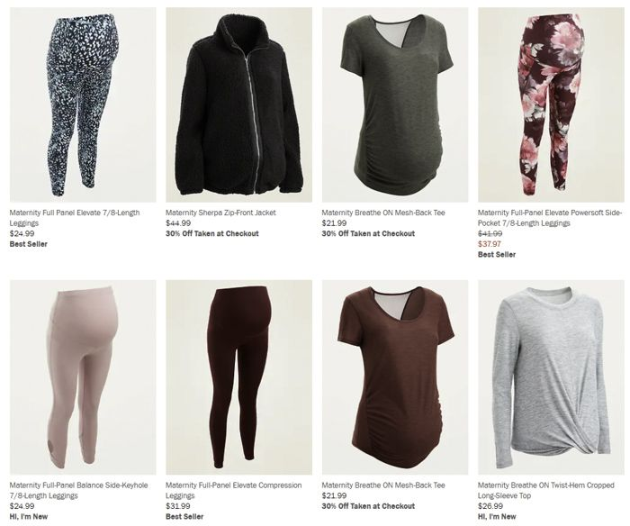 Old Navy maternity activewear