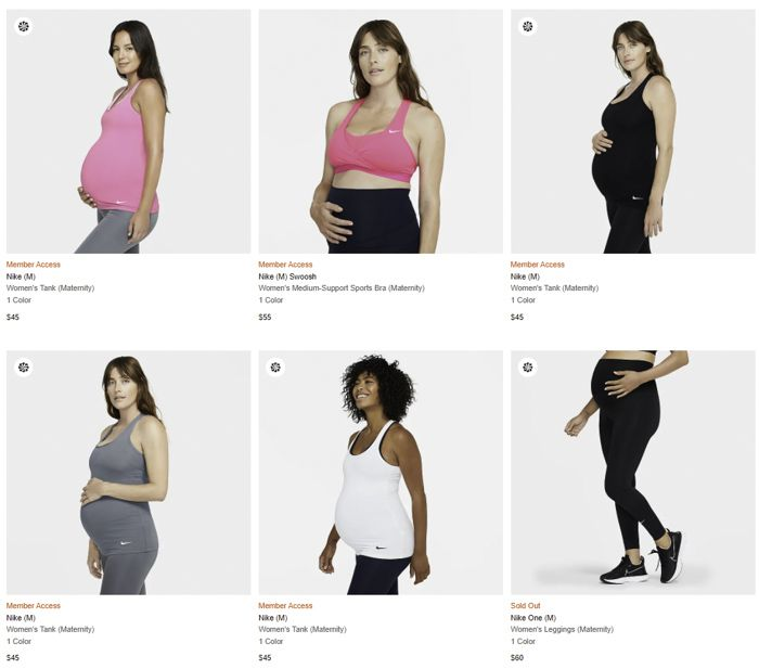 Nike maternity activewear