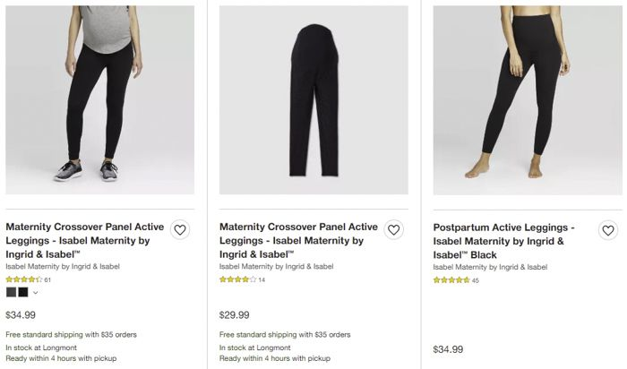 Target maternity activewear leggings