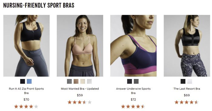 Title Nine maternity sports bras