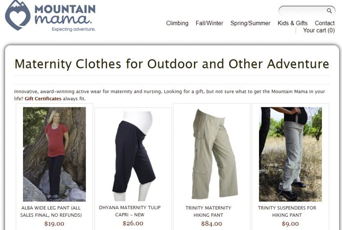 Mountain Mama maternity clothes