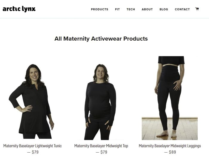 Arctic Lynx maternity baselayers