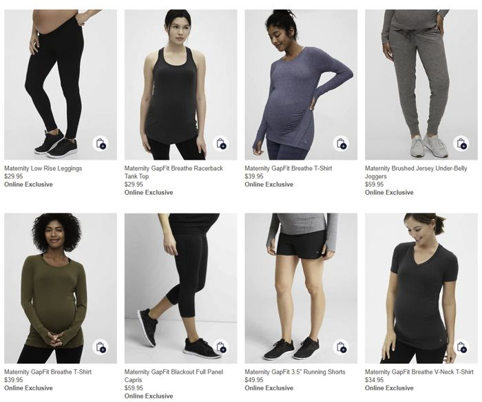 Gap maternity activewear
