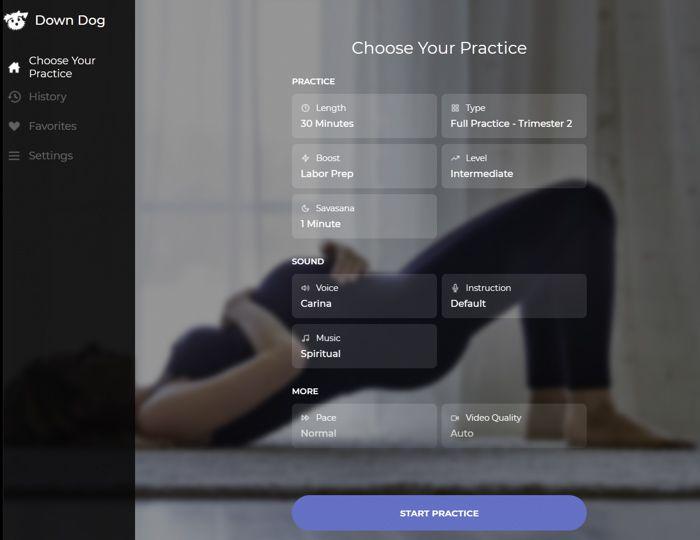 Downdog Prenatal Yoga App