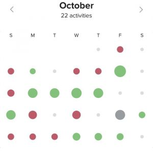 October Movescount log