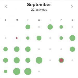 September Movescount log