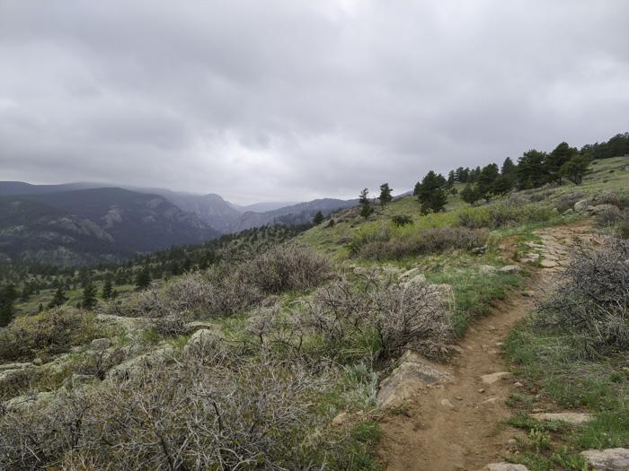 Hall Ranch Nighthawk Trail viewpoint