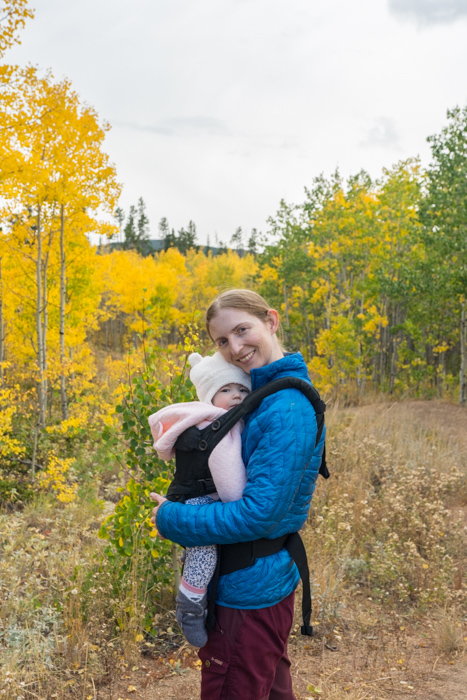 Aspen Alley with baby